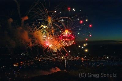 July 4th Fireworks Stillwater St. Croix River Valley