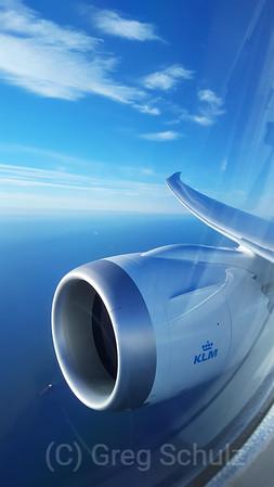 KLM Boeing 787 GE Jet Engine