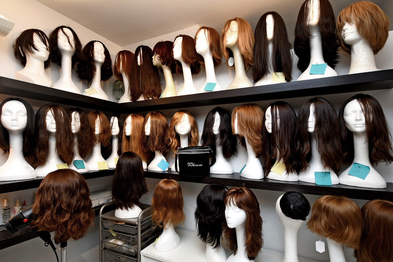 Photoshoot of Dov's Hair and Wig Salon for Avenue Magazine at 127 East 56th Street