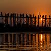 Sunset at the U Bein bridge.