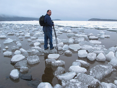 BEHIND THE SCENES 6077  Ice chunks on Grand Portage Bay - April 16, 2013 - Photo by Jessica Barr