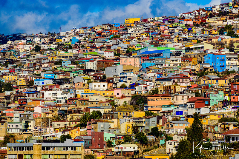 Glorious cityscape of Valparaiso.