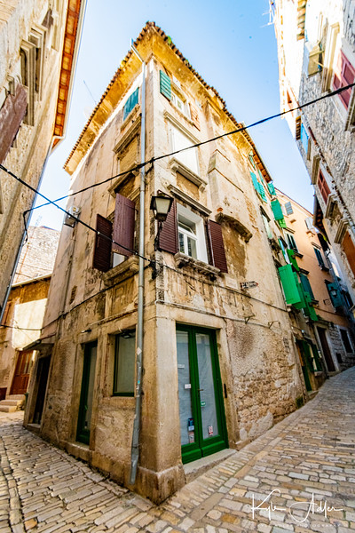 Exploring the hilly fishing town of Rovinj.