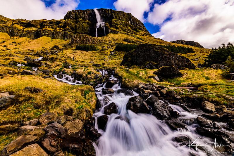 A gorgeous waterfall along the Snaefellsnes Peninsula.