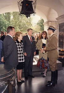 The Reagan's in Warsaw
