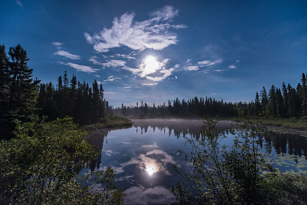 """MOONLIGHT 9617<br /> <br /> """"Full Moon over Cascade River""""<br /> <br /> Cook County, MN"""