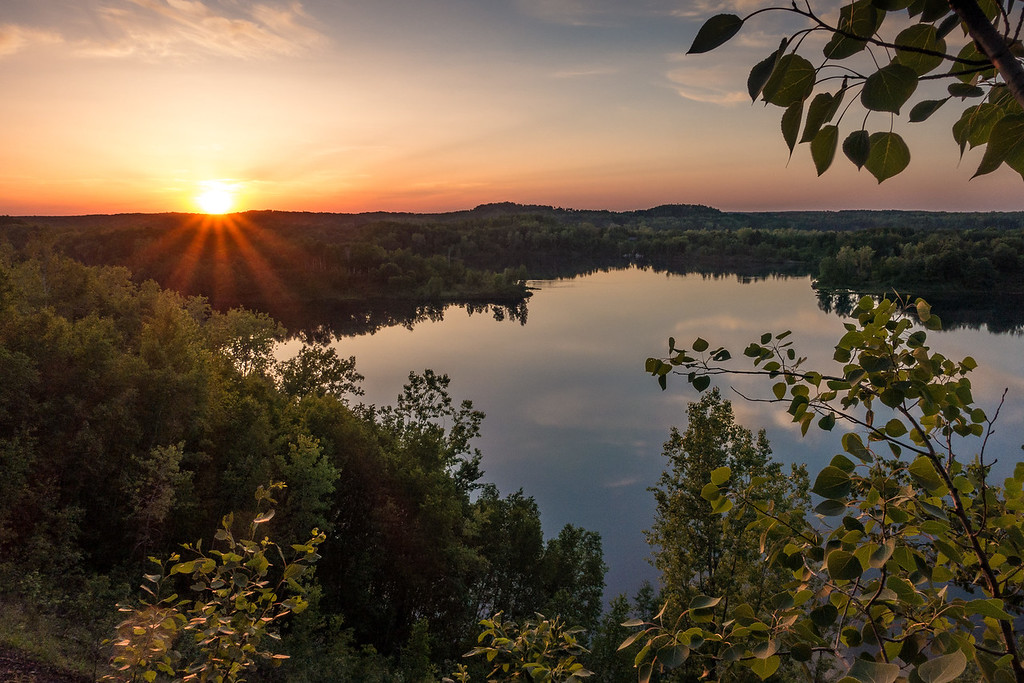 """LAKES 05903<br /> <br /> """"Sunset from Hopper Hill""""<br /> <br /> Cuyuna Country State Recreation Area, MN"""