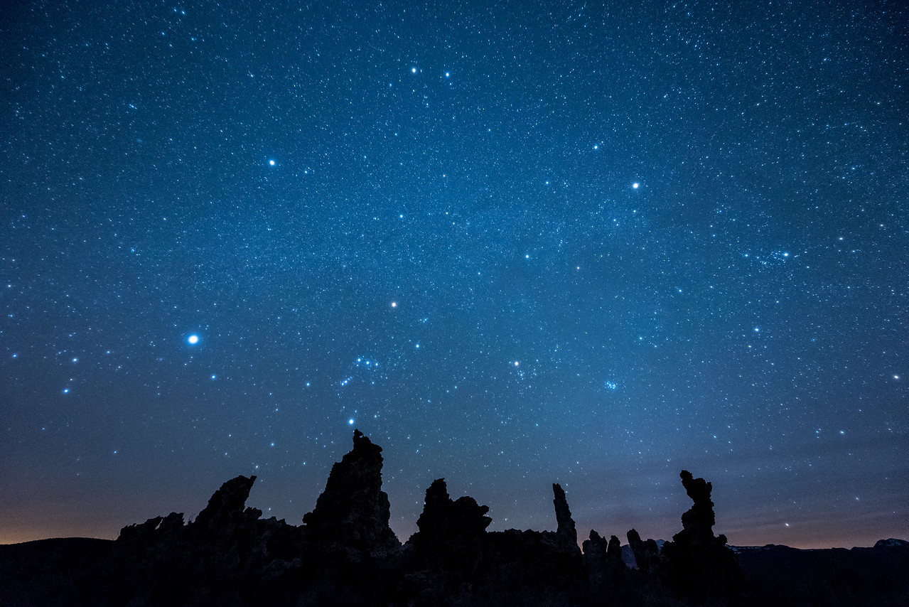 "CALIFORNIA 2057<br /> <br /> ""Imaginarium""<br /> <br /> The night sky over tufa formations at Mono Lake Tufa State Natural Reserve."