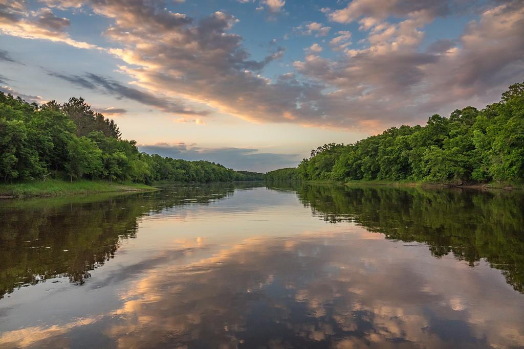 """RIVERS 04618<br /> <br /> """"Mississippi Sunset, Crow Wing State Park""""<br /> <br /> Brainerd, MN"""