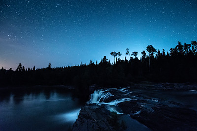 """Starry Sky over Middle Falls"""