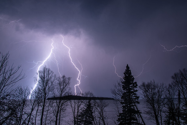"""Early spring lightning storm"""