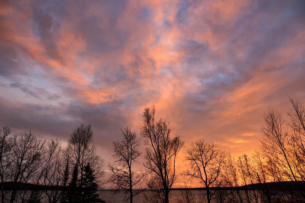 "SUPERIOR FALL 03116<br /> <br /> ""November Sunset, Grand Portage Bay""<br /> <br /> Grand Portage, MN"