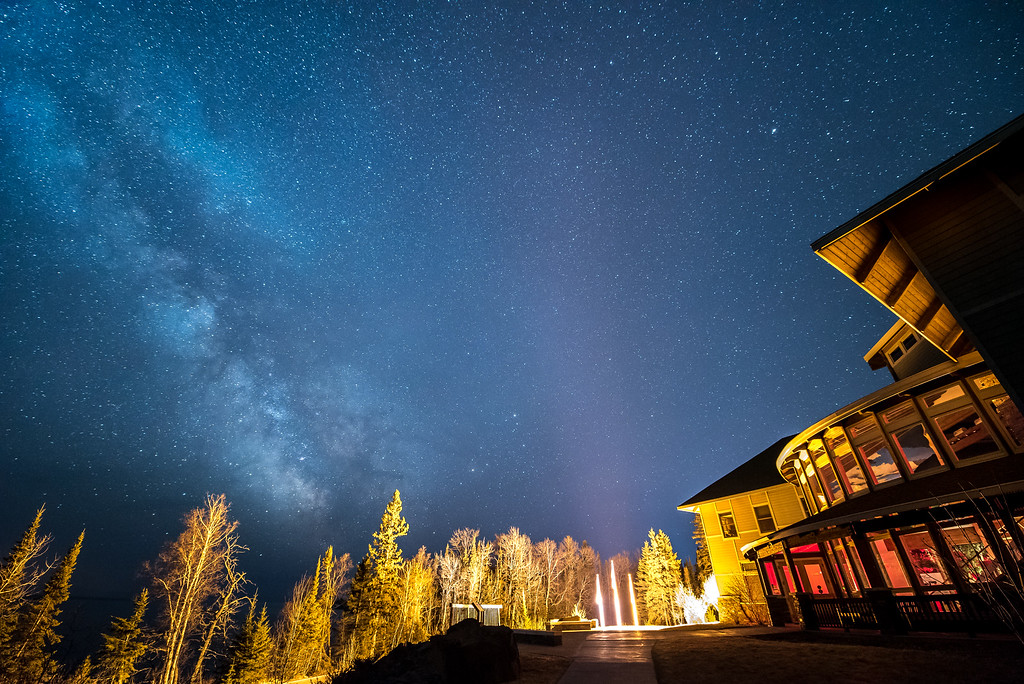 "MILKY WAY 4474<br /> <br /> ""Heritage Center and the Milky Way""<br /> <br /> Grand Portage National Monument, MN"