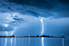 "LIGHTNING 9050<br /> <br /> ""August Thunderstorm, Grand Marais Harbor""<br /> <br /> Grand Marais, MN"