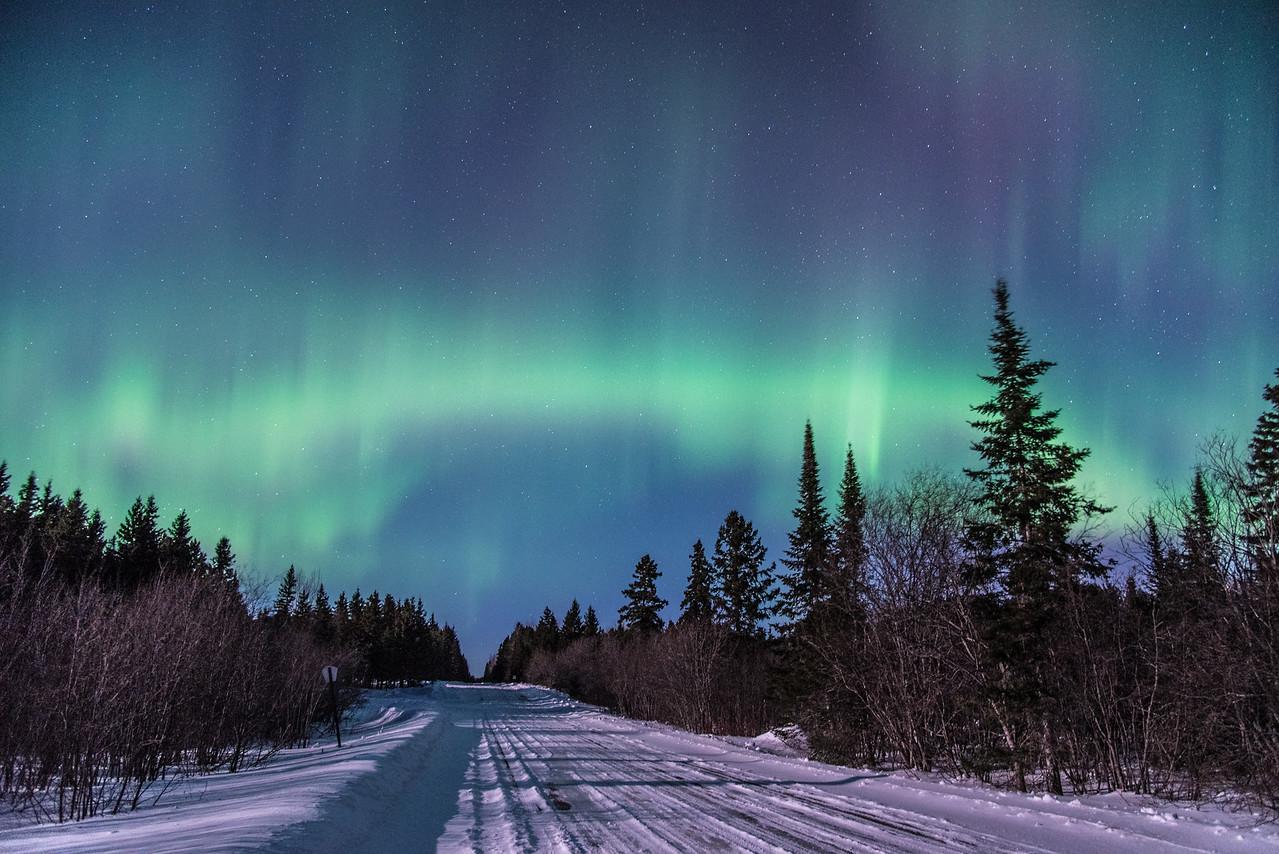 "AURORA 0344<br /> <br /> ""3 A.M. Surprise""<br /> <br /> Northern Lights on March 2, 2015"