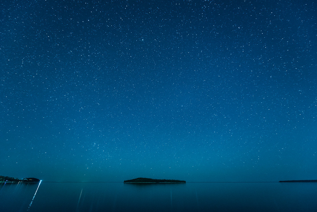"""MILKY WAY 3521<br /> <br /> """"Quiet Night on Grand Portage Bay"""""""