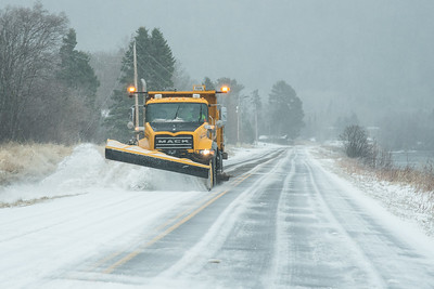 """TRANSPORTATION 2698  """"Winter has returned (again)""""  Ice storm on April 26, 2017 in Grand Portage, MN"""