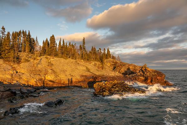 """Golden Sunset on Lake Superior"""