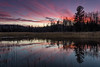 "LAKES 02548<br /> <br /> ""Autumn Sunset, Eagle Marsh""<br /> <br /> Grand Portage, MN"
