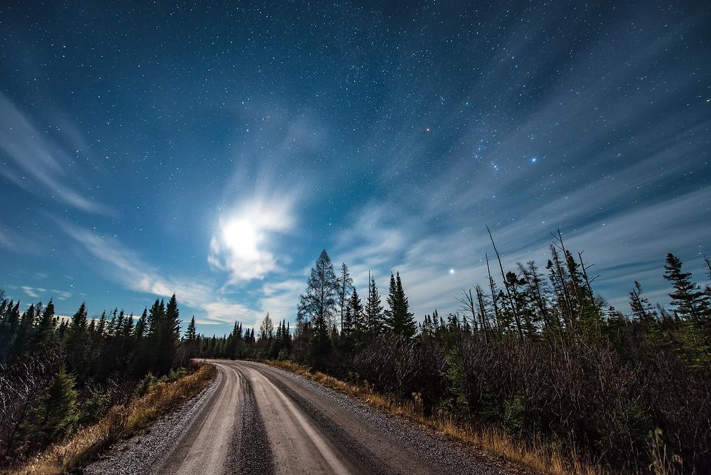 """MOONLIGHT 4157<br /> <br /> """"Back Roads Moonlight, Superior National Forest""""<br /> <br /> Northeast Minnesota"""