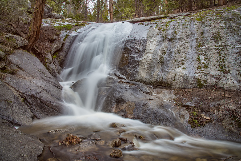 """CALIFORNIA 2355<br /> <br /> """"No-name waterfall""""<br /> <br /> Sequoia National Park"""