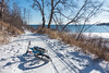 """BIKING 05117<br /> <br /> """"Shoreline Ride""""<br /> <br /> There aren't too many places where you can ride a groomed fat bike trail right along the shoreline of Lake Superior!  Split Rock Lighthouse State Park, MN."""
