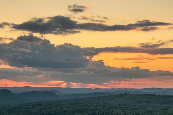 """Evening Sun Rays on the Grand Portage Hills"""