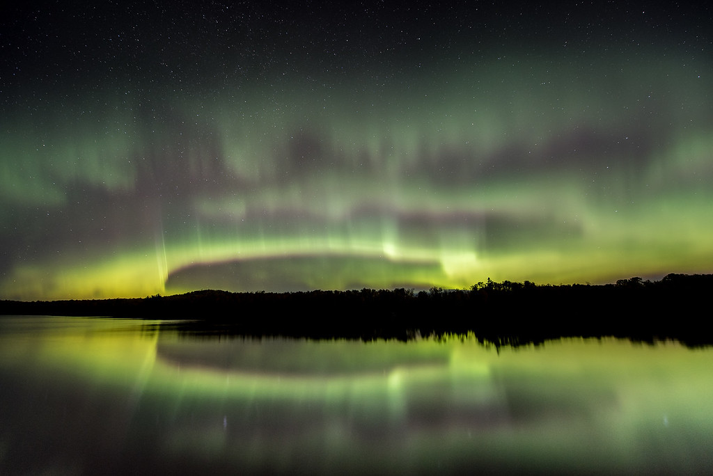"AURORA 2841<br /> <br /> ""Here comes the storm!""<br /> <br /> Pine Lake near Grand Marais, MN - October 7, 2015"