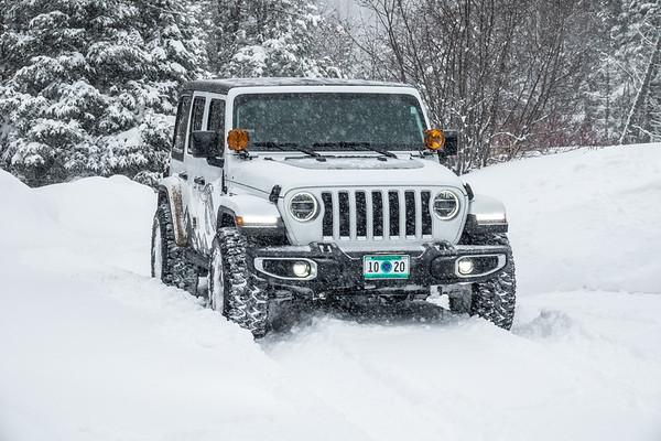 """Snow days are fun in a Jeep!"""