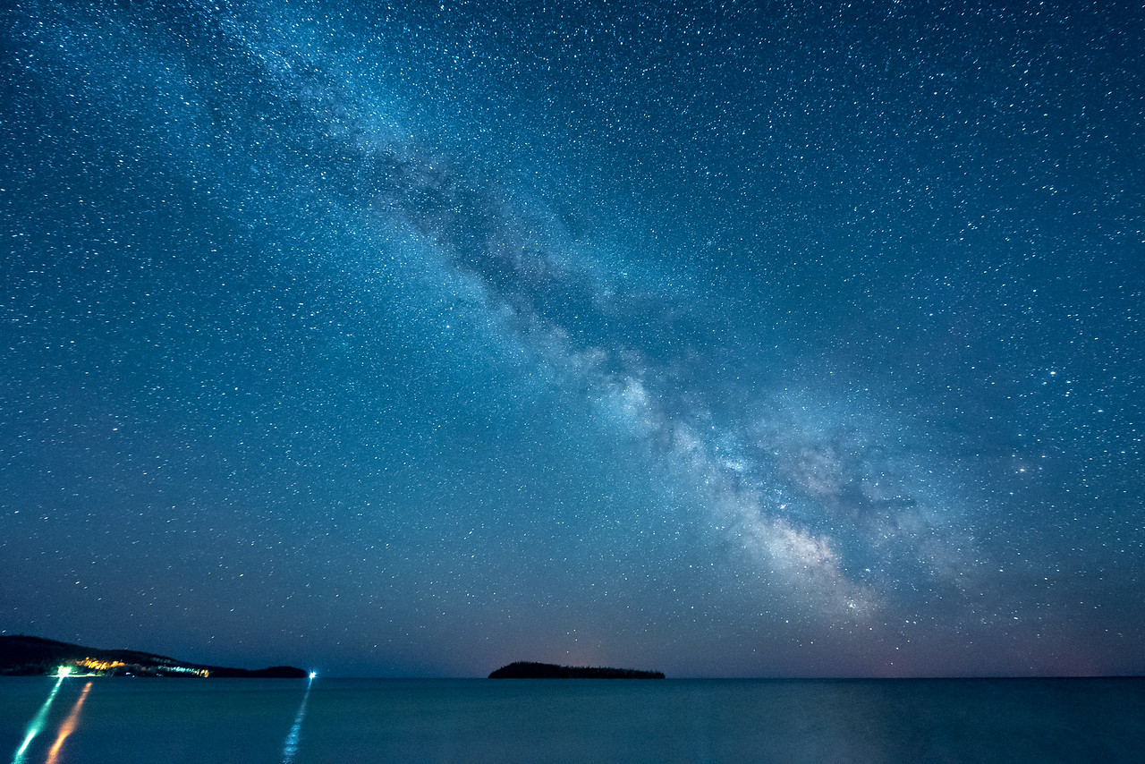 """MILKY WAY 4302<br /> <br /> """"Milky Way over Hat Point and Pete's Island""""<br /> <br /> Grand Portage, MN"""