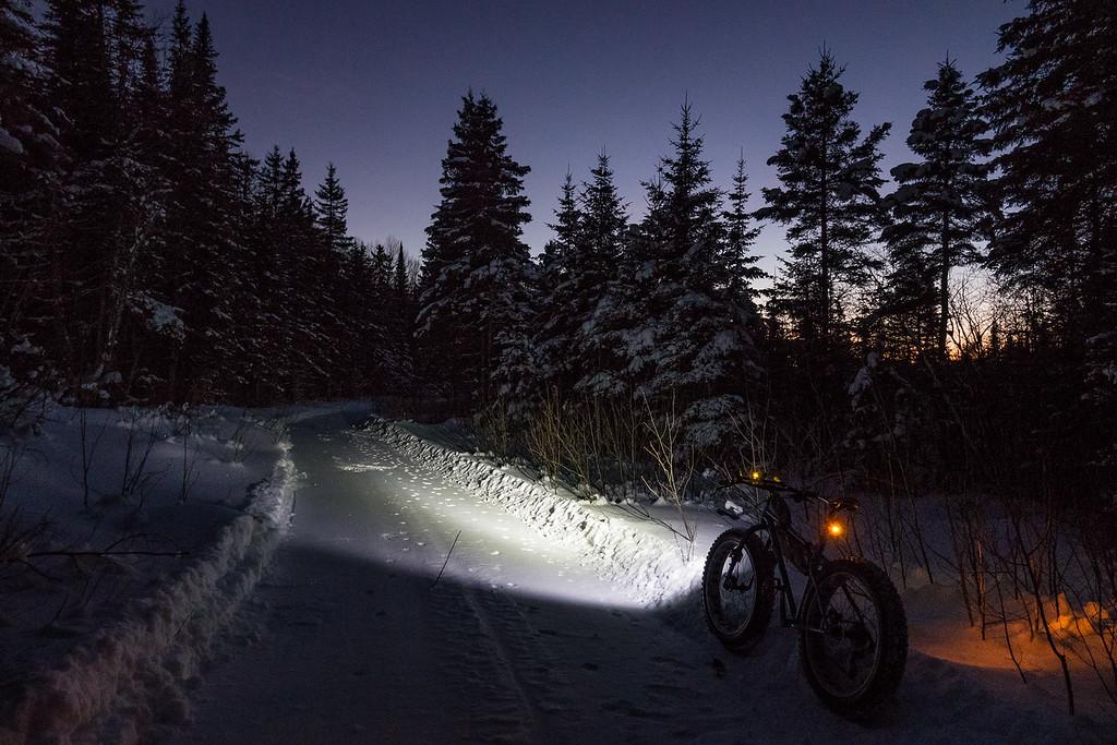 """Riding into the night"""