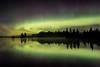 """AURORA 2866<br /> <br /> """"October Aurora over Devil Track Lake""""<br /> <br /> Cook County, MN - October 7, 2015"""