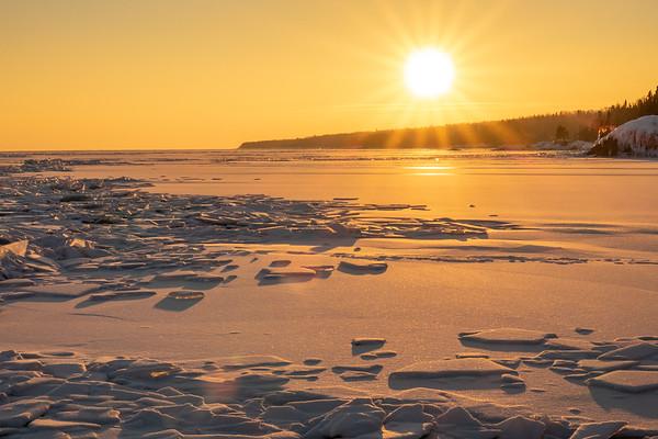 """""""February Sunset over Lake Superior Ice"""""""