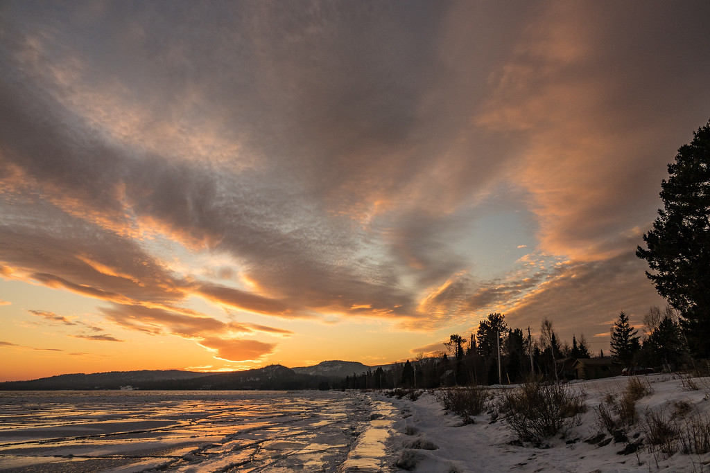 """Golden Sunset, Grand Portage Bay"""