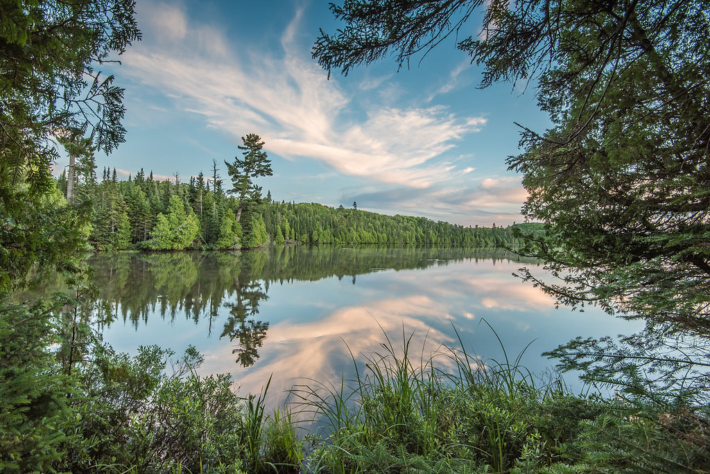 "LAKES 7231<br /> <br /> ""Summer Evening in the Minnesota Northwoods""<br /> <br /> Grand Portage, MN"