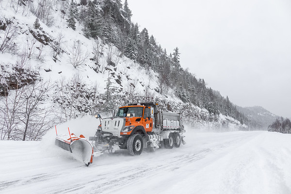 """""""Plowing TH 61 over Mt. Josephine"""""""