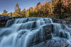 "MICHIGAN 2374<br /> <br /> ""First Light at Nawadaha Falls""<br /> <br /> Presque Isle River - Porcupine Mountains Wilderness State Park"