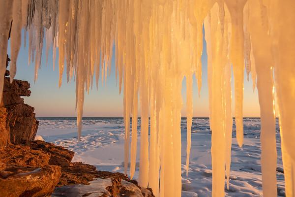"""Ice Cave Sunset"""