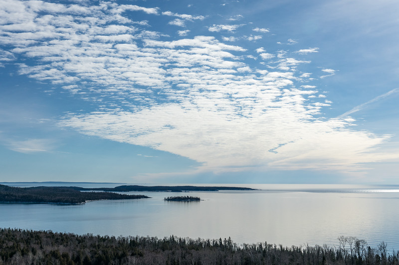 """SUPERIOR WINTER 00786<br /> <br /> """"Calm Clouds over the Susie Islands""""<br /> <br /> Grand Portage, MN"""