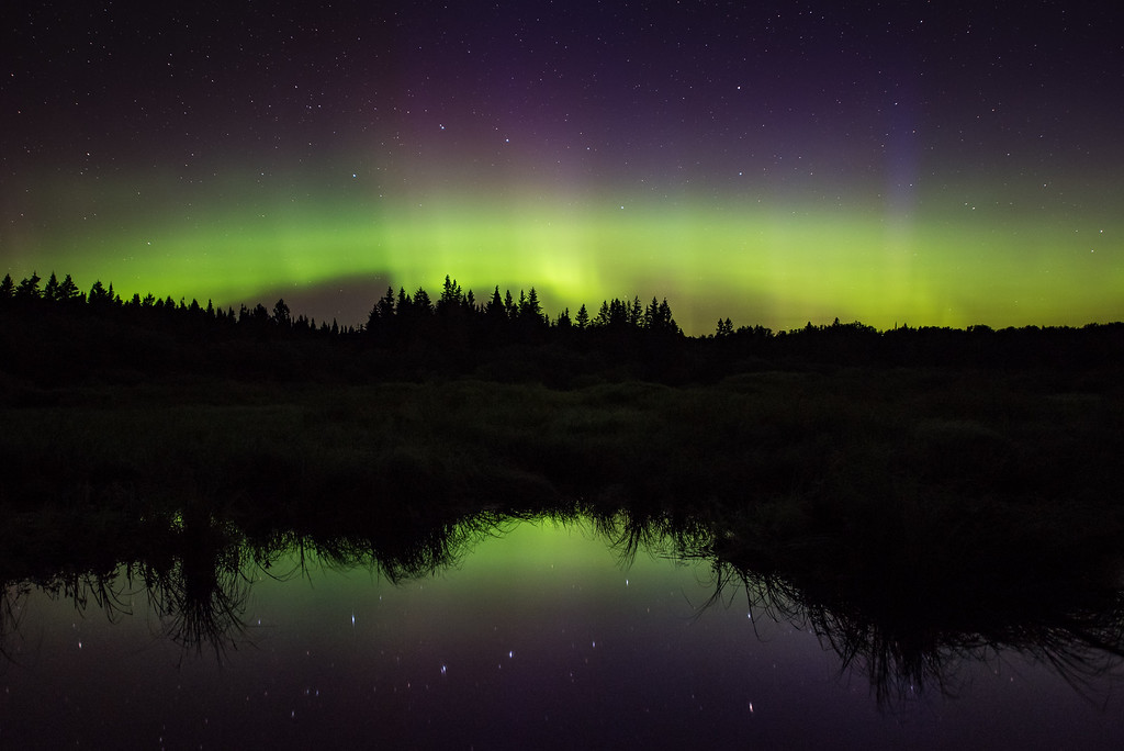 "AURORA 9055<br /> <br /> ""A Subtle Storm""<br /> <br /> Northern Lighs in Grand Portage, MN on August 3, 2016."