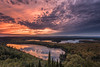 "LAKES 0141<br /> <br /> ""Awesome Sunset, Trout and Swamp Lakes""<br /> <br /> Grand Portage, MN"