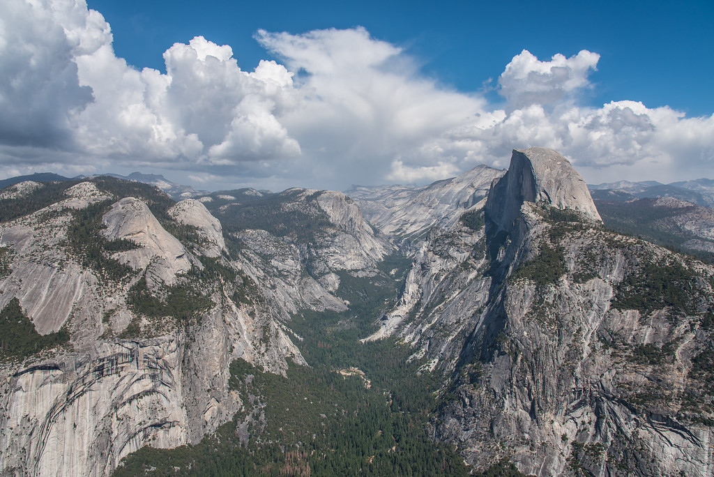 "CALIFORNIA 0007<br /> <br /> ""Glacier Point - Half Dome View""<br /> <br /> Yosemite National Park"