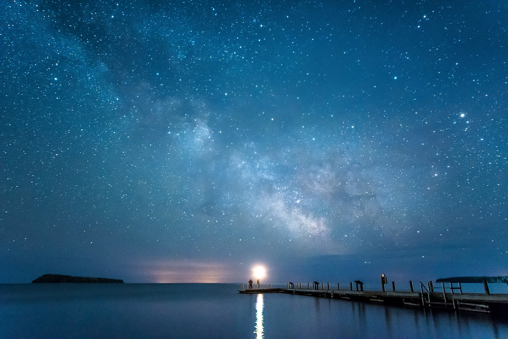 "MILKY WAY 4452<br /> <br /> ""See the Milky Way at Grand Portage National Monument!""<br /> <br /> Monument Dock on Grand Portage Bay - Grand Portage National Monument, MN"