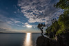 """MOONLIGHT 7764<br /> <br /> """"Blue Moon Rising""""<br /> <br /> The Blue Moon of July 31, 2015 (the second full moon for the month of July) rises over Lake Superior in Grand Portage, MN."""