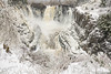 "PIGEON RIVER 03843<br /> <br /> ""Spring Snow at High Falls""<br /> <br /> April 27, 2017 - Grand Portage State Park"