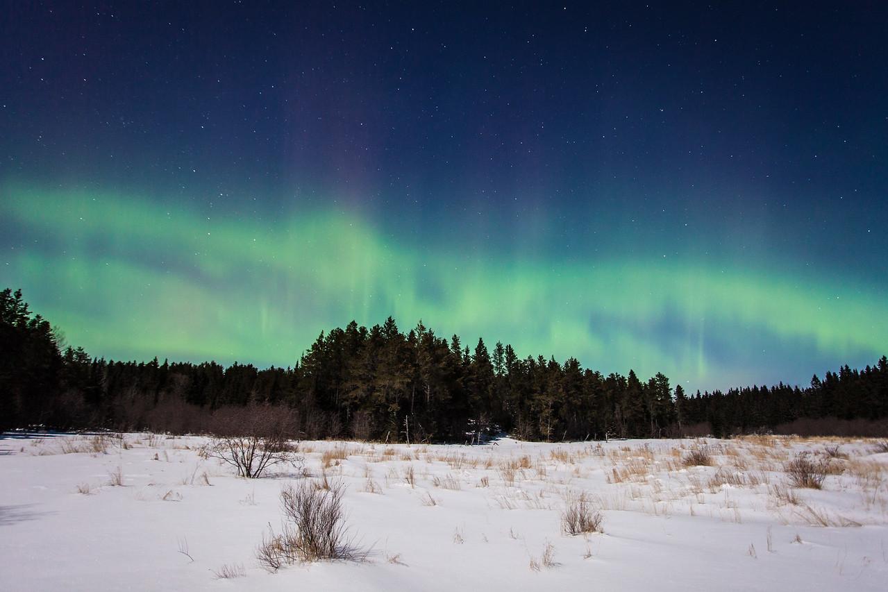 """AURORA 0864<br /> <br /> """"Eighteen Below Aurora""""<br /> <br /> Northern Lights on February 2, 2015"""