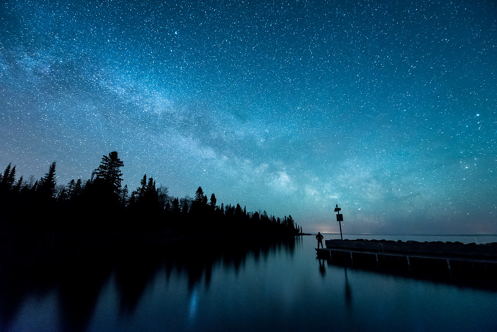 "MILKY WAY 5074<br /> <br /> ""The Supernal Dream""<br /> <br /> The Milky Way Galaxy over Horseshoe Bay - Hovland, MN"