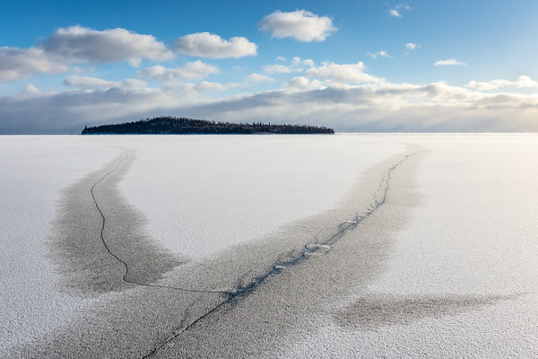"""Instant Ice on Lake Superior"""