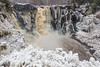 "PIGEON RIVER 03627<br /> <br /> ""December Ice at High Falls""<br /> <br /> Grand Portage State Park, MN"