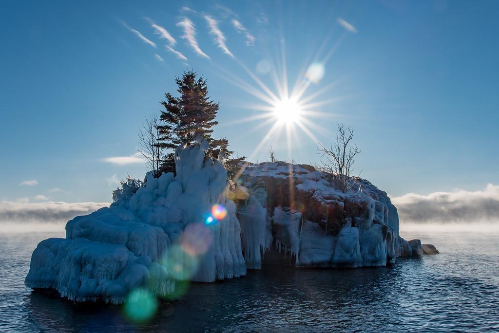 """Cold Morning at Hollow Rock"""